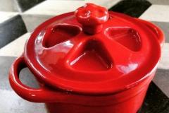 mini cocotte red